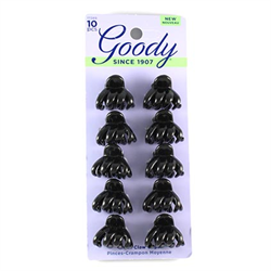 GOODY BLACK MINI SPIDER CLAW CLIPS 10 CT  D3