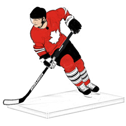 HOCKEY FIGURES AND TRADING CARDS