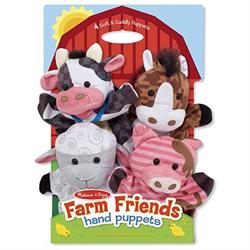 MELISSA & DOUG FARM ANIMALS HAND PUPPETS