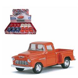 1:32, 1955 CHEVY STEPSIDE PICK UP P/B ASST COLOURS CDU12